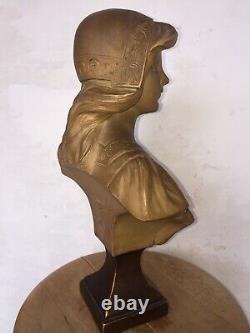 Gustave VAN VAERENBERGH (1873-1927) Buste femme terre cuite Art nouveau