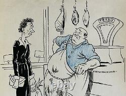 Jean Chaperon, dessin, humour, érotisme, erotica, femme, femme nue, caricature