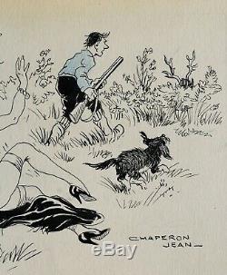 Jean Chaperon, dessin, humour, érotisme, erotica, femme nue, sexe, chasse