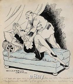 Jean Chaperon, dessin, humour, femme nue, érotique, erotica, sexe, caricature