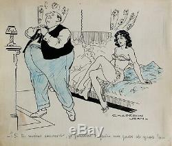 Jean Chaperon, dessin, humour, femme nue, érotisme, erotica, sexe, caricature