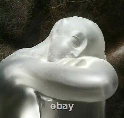 Lalique paire de serre livre femme nue art déco en bon état