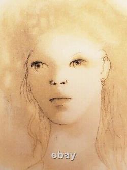 Leonor Fini lithographie originale signée Visage de femme/ ART /DECO