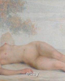 Lucien Boulier tableau femme nue pointillisme Art Déco impressionnisme érotica