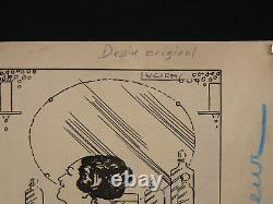 Lucien GUY (XIX-XX) Encre chine 2 femmes nues nu érotique époque art deco 1930