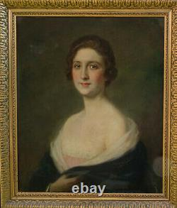 Manuel Barthold Portrait de Femme Ecole Française du XXème siècle HST Art Déco