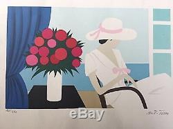 Maria-Teresa TORRES La femme au chapeau- LITHOGRAPHIE signée 250EX-vintage1956