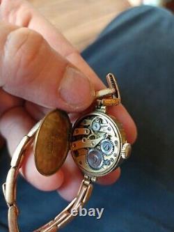 Montre Art Déco Femme or roule rolled gold Fonctionne