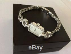Montre De Femme CHOPARD authentic Or 18K, 54 Diamants, mecanique, style Art Deco
