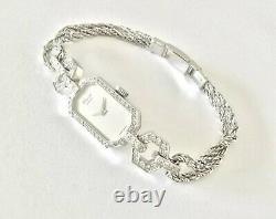 Montre Femme CHOPARD authentique Or 18K, 54 Diamants, style Art Deco
