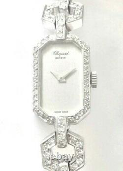 Montre Femme CHOPARD authentique Or 18K massif, 54! Diamants, style Art Deco