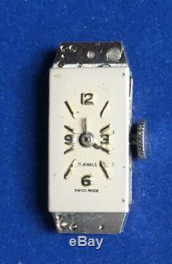 Montre Femme Suisse Platine 950 Diamant Circa 1930 Art Deco Watch Jewels 17 Pt