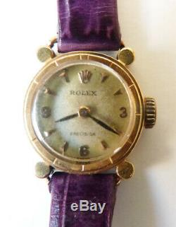 Montre ROLEX Precision femme en OR massif gold watch ART DECO vers 1940