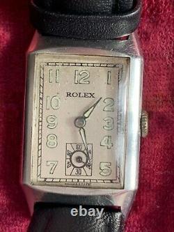 Montre ROLEX Vintage, style Art Déco, Circa 1930