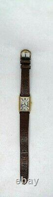 Montre Watch Tissot 1853 Pl. Or 18 Carat A222k Swiss Art Deco Femme Vintage