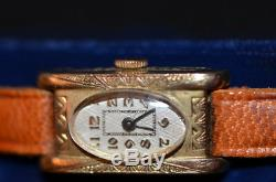 Montre bracelet femme vintage plaqué or