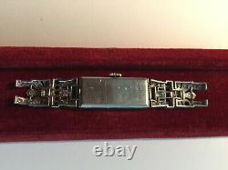 Montre platine art deco sertie de diamants vendue dans l'état, 13,25 g