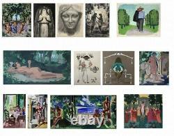 Noel Feuerstein (1904-1998) Portrait De Femme Art Deco Vers 1940 (214)