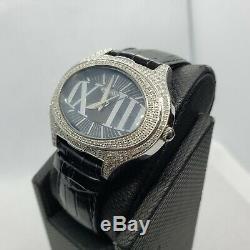 Noir 1.5 Carat Bijoux Montre Diamant pour Femmes Naturel