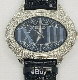 Noir 1.5 Carat Fin Bijoux Diamant Montres Véritable Véritable Diamants. Suisse