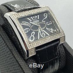 Noir 1 Carat Bijoux Montre Diamant Diamant Montres pour Femmes. Naturel Diamants