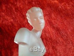Nu Art Deco superbe buste de femme en verre curiosa parfait état sculpture