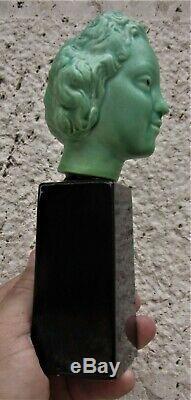 Paul Millet, Paul Milet SèvresStatuette buste femme époque art decoVers 1930