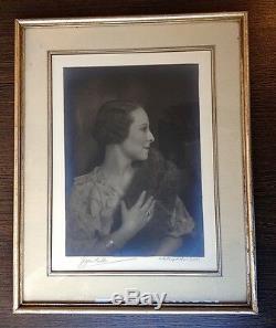 Photo Portrait De Femme Art Deco, 1925-1930 Woman Modern Style Portrait Signee