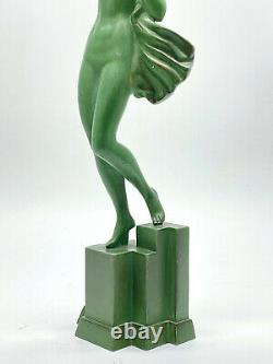 Pierre Le Faguays dit Fayral (1892-1962) Sculpture de Femme nue époque Art Deco
