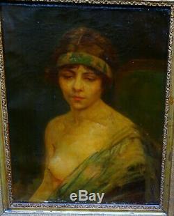 Portrait de Femme Epoque Art Déco Ecole Française du début du XXème siècle HST