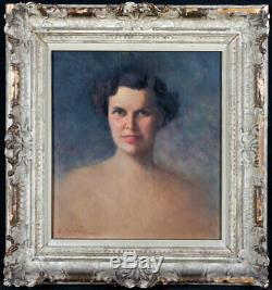 Portrait de femme, signée Eugenio FARELLO 1894/1955, daté 1951, Ecole Italienne