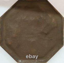 R2011 Très Rare Fonte Médaille Uniface Art Déco Femme Fleurs Colombe Morlon SUP