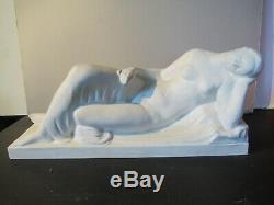Raoul Lamourdedieu. Sèvres. Art Déco 1930 45cm. Femme assoupie