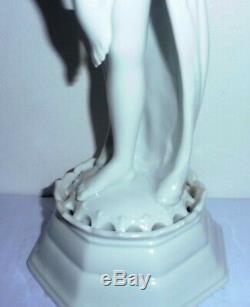 Rare Statue Sculpture Femme Art Deco Danseuse Rosenthal Bavaria D Charol