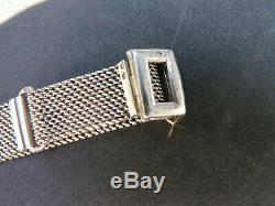Rare Watch montre or diamants Femme art déco vintage poinçonnée bracelet argent