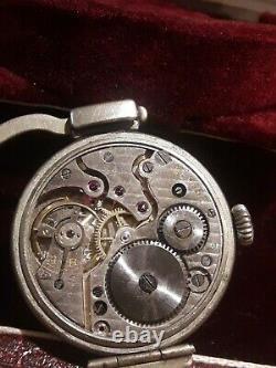 Rare et superb montre de sac a main L'emeraude Lausanne suisse montre art déco