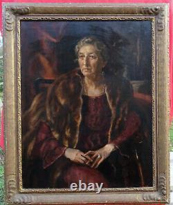 Robert Sivell Portrait de femme Ecole Ecossaise H/T époque Art Déco