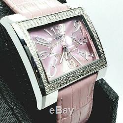 Rose 1.5 Carat Bijoux Montre Diamant pour Femmes. Naturel
