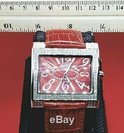 Rouge 1 Carat Fin Bijoux Diamant Montres. Véritable Véritable Diamants. Suisse