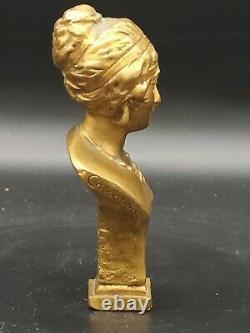 Sceau cachet en bronze signé CASSONNET représentant un buste de femme art déco