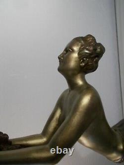 Sculpture art deco 1930 femme danseuse BALLESTE statuette woman dancer statue