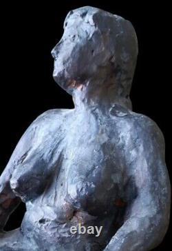 Sculpture nu féminin signé Gérard COZE terre cuite Pau nude lady femme nue XX