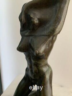 Sculpture statue Bronze Femme nue Art Deco