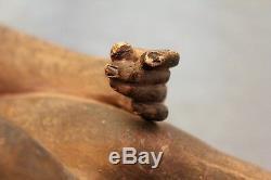 Sculpture terre cuite époque art déco femme nue