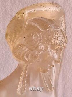 Statue Femme Danseuse Dénudée Art-Déco 1930 ancien moulage en Résine XXème H 35