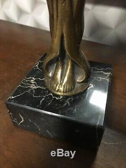 Statue bronze femme ailée art deco année 20/30 taille 30 x 18 cm hors socle