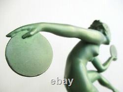 Statuette Art Deco Danse Païenne A. Derenne Bouraine Max Le Verrier Jolie Femme