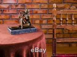 Statuette de femme nue style ancien/art déco Sculpture en bronze