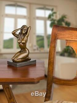 Statuette de femme nue style ancien/art déco bronze