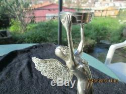 Statuette femme ailée bronze argenté  art déco  art nouveau trophée